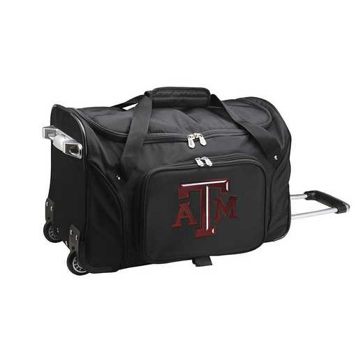 CLTAL401: NCAA Texas A&M Aggies 22IN WHLD Duffel Nylon Bag